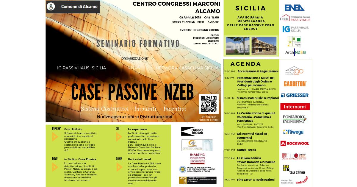 CASE Passive Zero Energy - Incontro Convegno ad Alcamo (TP) - 05 Aprile 2019