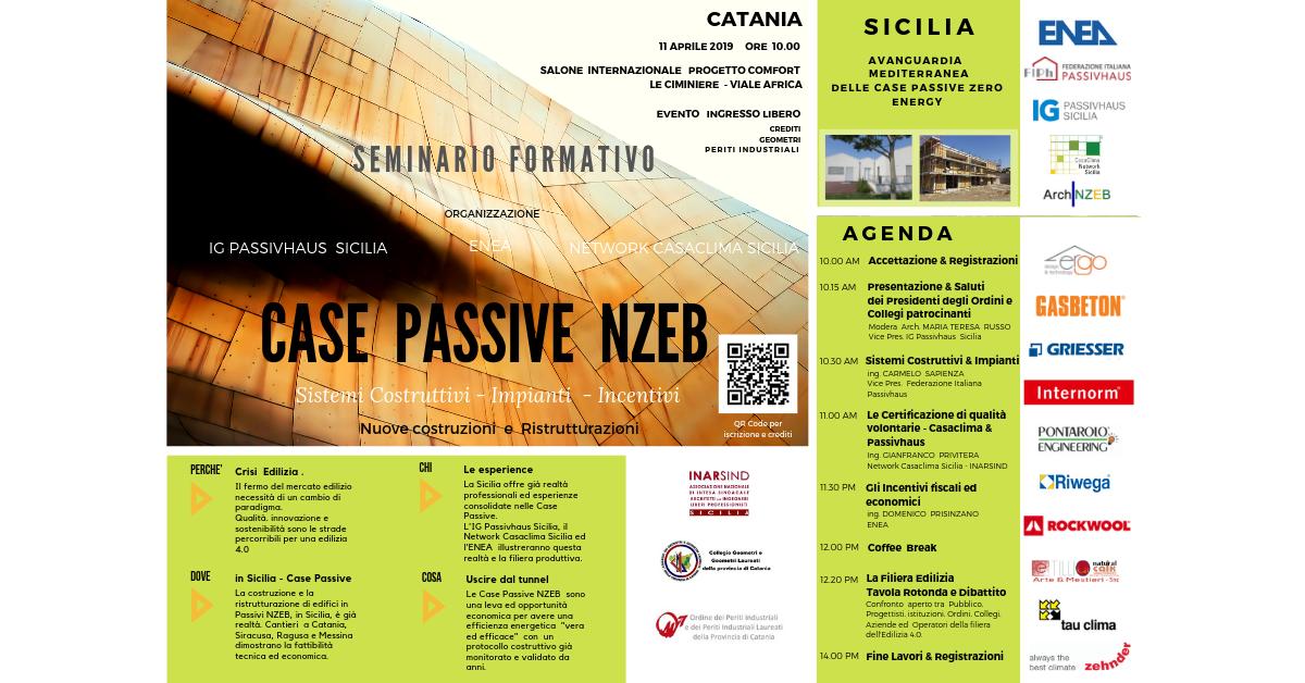 CASE Passive Zero Energy - Incontro Convegno a Catania - 11 Aprile 2019