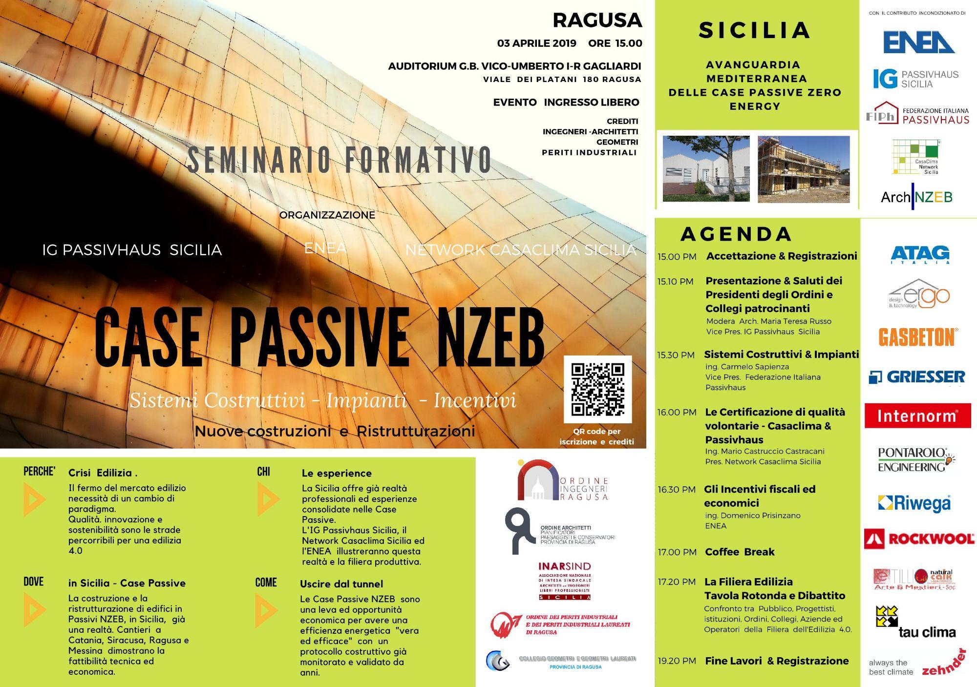 RG - CASE Passive Zero Energy - Incontro Convegno a Ragusa - 03 Aprile 2019